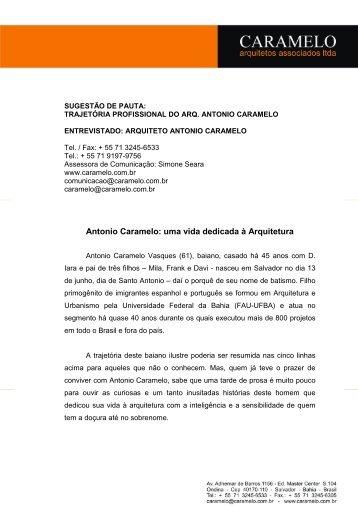 Antonio Caramelo: uma vida dedicada à Arquitetura