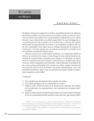 El carbón en México - Facultad de Economía - UNAM