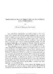 PERVIVENCIA DE LOS VIEJOS OFICIOS DE DOÑANA: LOS ...