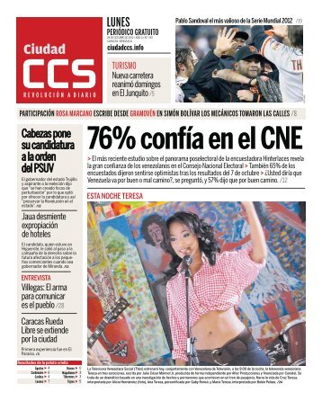 76% confía en el CNE - Ciudad CCS