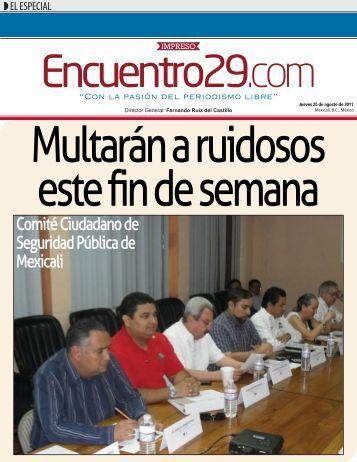 Comité Ciudadano de Seguridad Pública de Mexicali - Encuentro 29