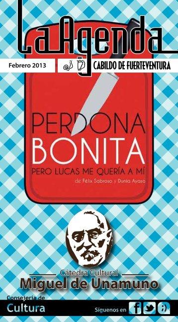 Agenda febrero 2013 - Cabildo de Fuerteventura