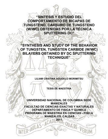 sintesis y estudio del comportamiento de bicapas de tungsteno ...
