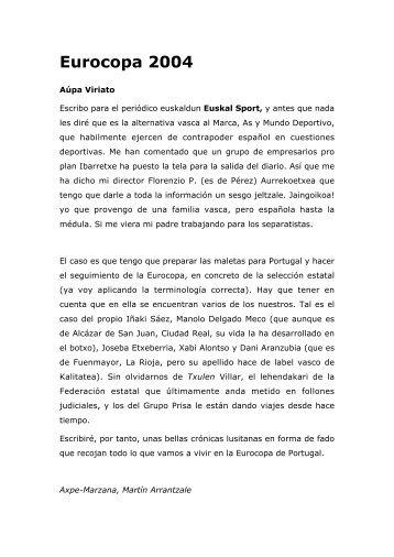 Eurocopa 2004 - Carlos Zuluaga, en la movida Web 2.0