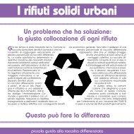 I rifiuti solidi urbani - Comune di Colle Umberto