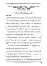 ORIGEN Y COMPOSICION DEL CARBON EN LA ... - GEOLOGIA