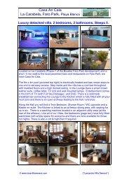 Casa An Cala La Carabela, Faro Park - Lanzarote Villa Owners
