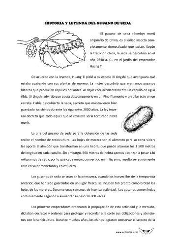 HISTORIA Y LEYENDA DEL GUSANO DE SEDA El ... - Actiludis