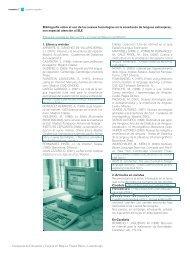 Biblografía español y nuevas tecnologías - RedIRIS