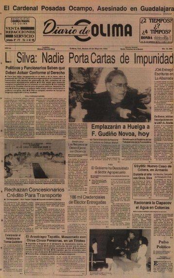 Silva: L. Nadie Porta Cartas de impunidad - Universidad de Colima