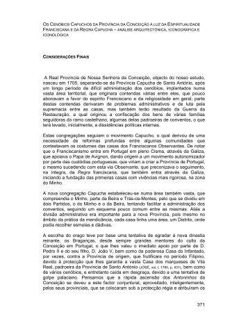371 A Real Província de Nossa Senhora da Conceição, objecto do ...