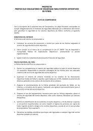 proyecto protocolo obligatorio de seguridad para eventos ... - FPF