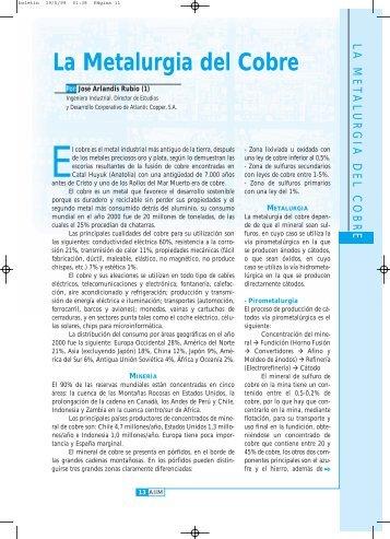 La Metalurgia del Cobre - Asociación de Ingenieros Industriales de ...