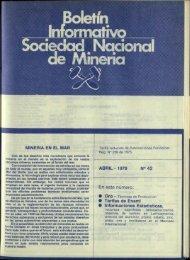 MINERIA EN EL MAR ABRIL - 1979 No 42 En este número: - Sonami