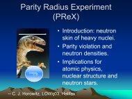 Parity Radius Experiment (PReX)