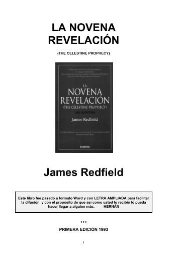 LA NOVENA REVELACIÓN James Redfield - nadiemejorquenadie