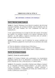 ORDENANÇA FISCAL NÚM.21 - Diputació de Girona