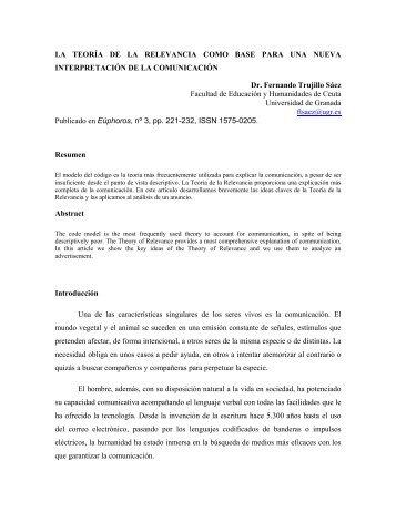 Descarga, 270 Kb, pdf - Fernando Trujillo