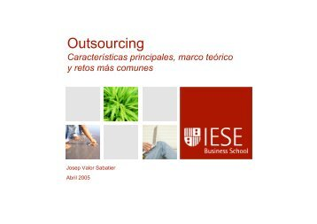 Outsourcing - IESE Blog Community - IESE Business School