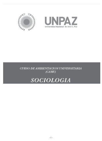 Sociología - Universidad Nacional de Jose C. Paz