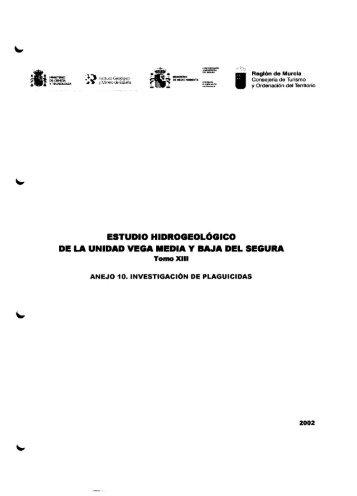 estudio hidrogeológico de la unidad vega media y baja del segura
