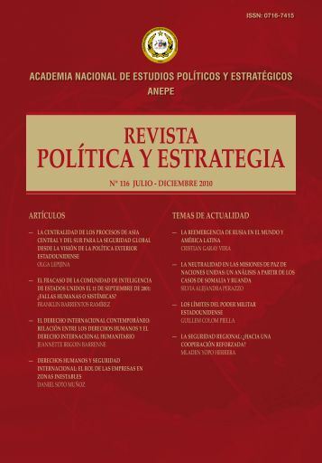 descargue revista anepe nº116 aquí - Academia Nacional de ...