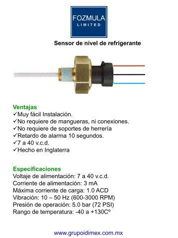 fozmula refrigerante.pdf - Grupo IDIMEX