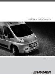 HYMER Car Preisinformation
