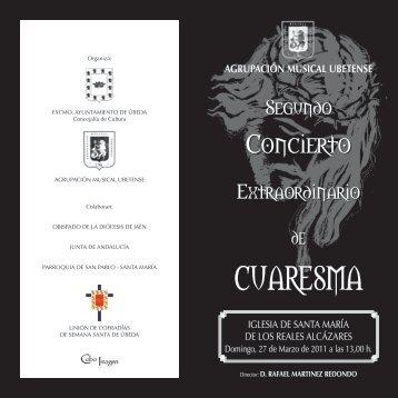 CUARESMA - Ayuntamiento de Úbeda.