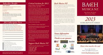 MusicA NZ - Bach Musica New Zealand