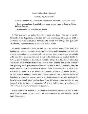 Francisco Fernández Carvajal CAMINO DEL ... - Homiletica.org