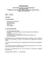 N iederschrift über die Sitzung des Bau- und ... - Amt Hörnerkirchen