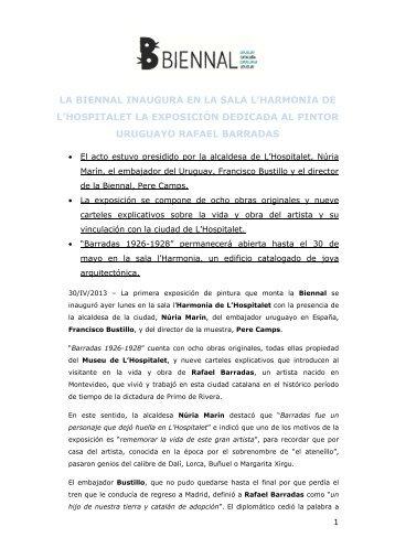 NdP BIENAL 300413 - Expo Barradas - Comedia Comunicació ...