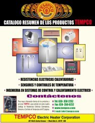catalogo resumen de los productos tempco - Tempco Electric Heater ...