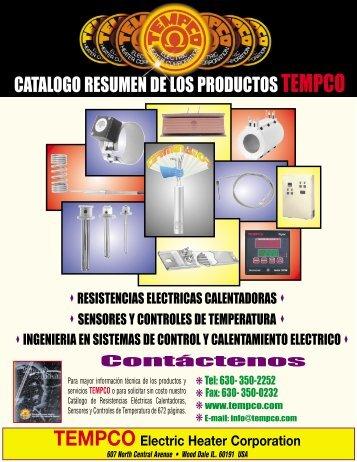 catalogo resumen de los productos tempco - Tempco Electric Heater ...