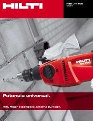 Folleto UH 700 Archivo Adobe Acrobat 0.27 MB ... - Hilti Mexicana