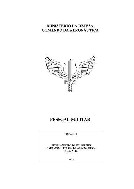 2786bfab39 regulamento rca 35-2 (rumaer) - Força Aérea Brasileira