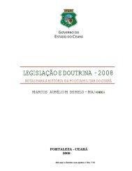 LEGISLAÇÃO E DOUTRINA - 2008 - Página Inicial