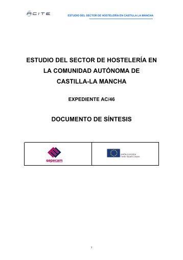 Estudio del sector de la Hostelería en Castilla La Mancha