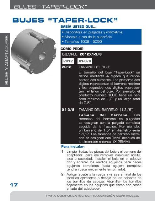 Taper hembra 3020-45 mm orificio taperlock-conector de sujeción