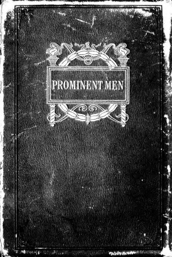 Prominent men : Scranton and vicinity, Wilkes-Barre and vicinity ...