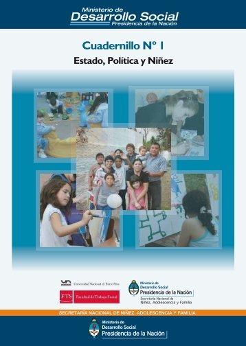 Estado, Política y Niñez - Ministerio de Desarrollo Social