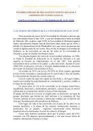 visitas guiadas - Universidad de Alicante