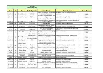 Fondos Adjudicados Tercer Llamado FCM - Peñalolén