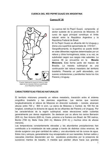 38 cuenca propia del rio pepiri-guazu en argentina - Subsecretaría ...
