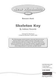 Skeleton Key Teaching resource sheets - Pearson Schools