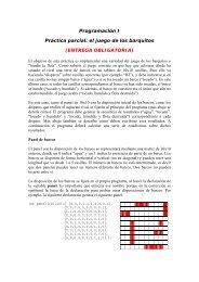 Programación I Práctica parcial: el juego de los barquitos ... - DTIC