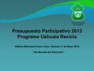 Ushuaia Recicla - Municipalidad de Ushuaia