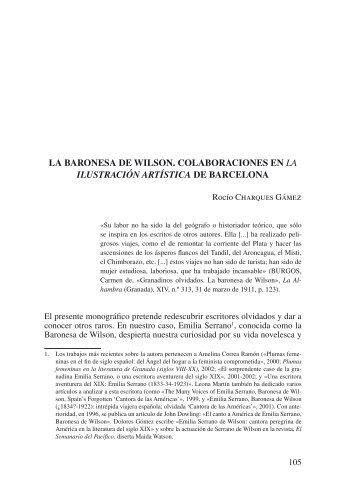 LA BARONESA DE WILSON. COLABORACIONES EN La ... - RUA