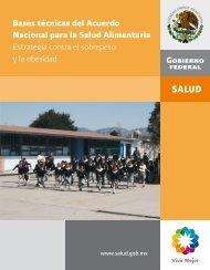 Bases técnicas del Acuerdo Nacional para la Salud Alimentaria
